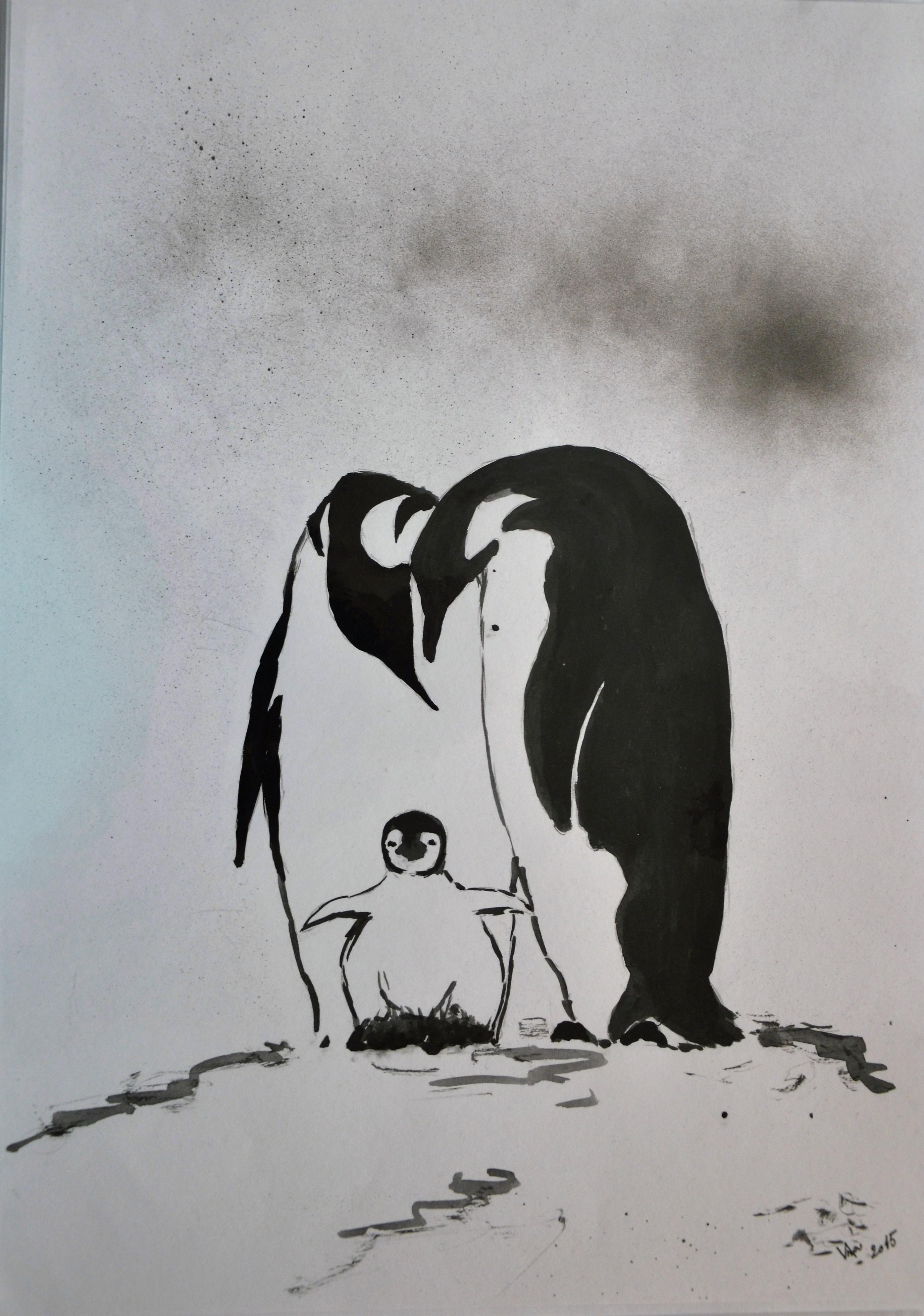 Rodinná pohoda u tučňáků