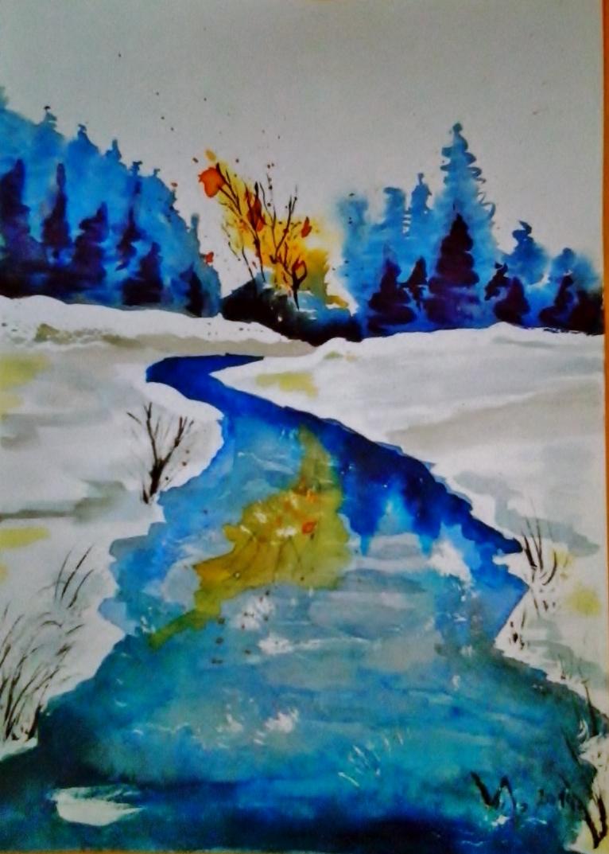 Potok v zimě