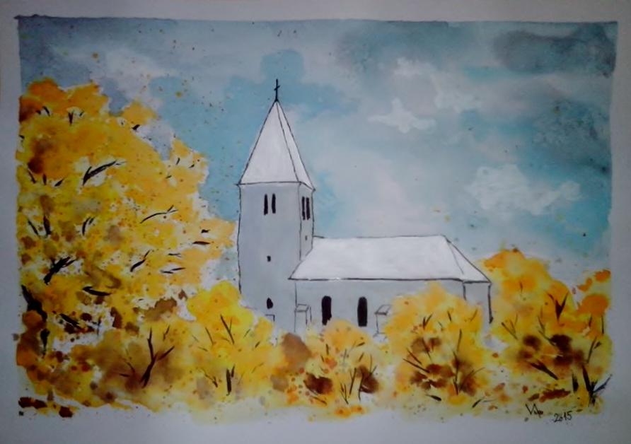 Kostel v Kotešové podzimní II