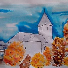 Kostel v Kotešové podzimní I
