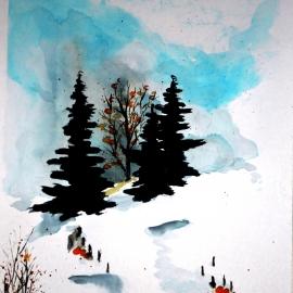 Zimní pěšina